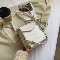 SWDF Fashion Small Square Bag 2021 Winter New Messenger Bag mini cellulare Casual Borsa a spalla piccola borsa