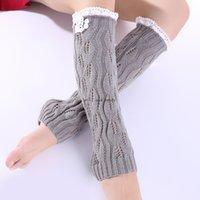Lace Knit Leaf Knee High Anklet Leg Warmers Socks Braid Boot Cuffs Toppers Leggings Women Girls Autumn Winter Loose Stockings White Black Will and Sandy