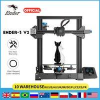 Ender-3 V2 3D Impressora Mainboard Silent TMC2208 Drivers 32bit Novo Ui4.3 Polegada Cor LCD Carborundum Cama de Vidro Impressora 3D