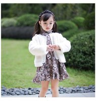 Baby Girl Coat faux fur Pearl Long Sleeve Princess Kids Outerwear Clothes 2-6Y Y0067 210610