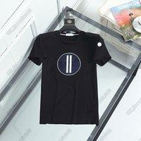 Designer T-shirt Mens Monclair 21SS Francia Tide Marca M Lettera Gallo Rooster logo Camicia da uomo 6 Stili Alta qualità Casual Street TEE