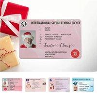 Weihnachtsgeschenk Santa-Gruß-Karte-Party Favor, die lustige Führerscheinkarten Santas Claus Flugkarten 86 * 54mm Neujahrswünsche