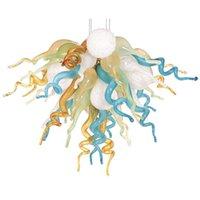 Nuovo Multi colore di lusso Cristal Chandelier Illuminazione Led Art Glass Ciondolo Luci Pendente Della Stanza Decorazione A Mano Blown Vetro Accetta Personalizzazione