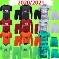PSG jersey Kit adulte Navas 20 21 gardien de but de gardien de but Jersey NEYMAR JR 2020 2021 Paris Accueil Troisième Mbappe Mens Set Shirt de football Rico Uniforme Costume