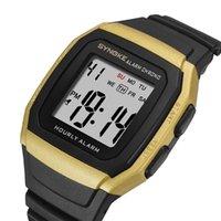 Wristwatches Fashion Men's Watch 2021 Multifunctional Sports Digital Mens Waterproof Ladies Square Relogio Masculino
