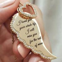 أجنحة الملاك إلكتروني القلب مع قلادة الماس أجنحة الملاك قلادة قلادة