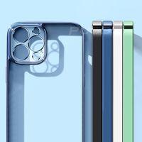 Роскошные квадратные рамки Placing TPU прозрачный чехол для iPhone 13 12 11 Pro Max Mini X XR XS 7 8 плюс мягкая четкая крышка