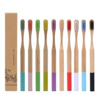 Health Beauty Oral Hygiene Rainbow Dispossible Reuse Toothbrush Personalized Bamboo Toothbrushes Tongue Cleaner Denture Teeth Travel Kit Tooth Brush