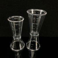 Plastics Cocktail Shaker Measure Cup Dual Shot Drink Spirit Measure Jigger Cup Kitchen Gadgets Tool DH8667