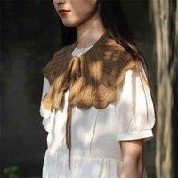 새로운 인형 가짜 칼라, 큰 옷깃, 여성 크로 셰 뜨개질, 봄 여름 하늘 조정 가능한 방 뜨개질, 목도리 및 셔츠
