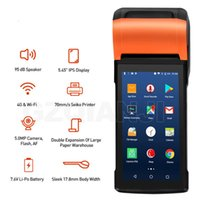 Printers Android Handheld Terminal With 58mm Thermal Receipt Printer Cash Registers For Mobile Order ESIM 4G WiFi