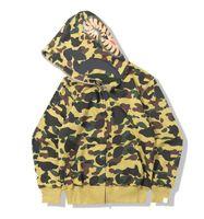 Yüksek Kaliteli Erkek Kadın Tasarımcı Hoodies ile Köpekbalığı Ağız Moda Mektuplar Baskı Hoodie Tişörtü Erkekler Bayan Giyim Tops 5 Renkler