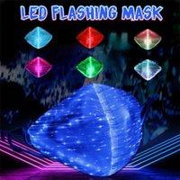 패션 LED 가벼운 할로윈 빛나는 입 마스크 면화 방진 및 방풍 교수형 귀 성격 재미 있은 빛나는 7 색 얼굴 USB 마스크