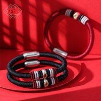Brincos de desenhador anéis de noivado, pulseiras e colares de ouro são favoritos das mulheres charme pulseiras Dragon Knot Palace Museum Life Buddha Ano do Boi 12
