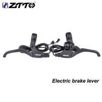 자전거 브레이크 ZTTO 1PAIR 전자 자전거 고품질 전기 브레이크 레버 자전거 MTB 도로를위한 전원 홀 센서를 잘라냅니다.