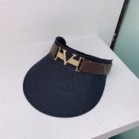 Moda Güneş Şapka Tasarımcı Kap Kadın Erkek Casquette Visor En Boş Kapaklar Şapka Erkek Kova Şapka Hut Yaz Faashion Chapeau D217104F