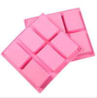 Square Silicone Baking Mold 8*5. 5*2. 5cm Cake Pan Molds Handm...