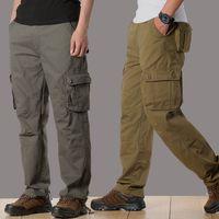 Pantalon de chargement pour hommes pantalons tactiques militaires hommes Swat Combat Pantalons de l'armée Beaucoup de poches décontractées Mode lâche Baggy Travailleur de Joger Homme