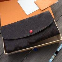 Mode Brief Brieftasche Geldbörse Echtes Leder Lange Brieftasche Button Münze Geldbörse Karten Slot Halter Pocket Pouch Frauen Handtaschen Handtasche Kupplungsbeutel