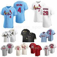 28 Nolan Arenado Jersey Baseball 46 Paul Goldschmidt 13 Matt Carpenter 35 Lane Thomas 4 Yadier Molina 26 Justin Williams Men Kids Women