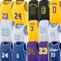 Los Alex 4 Caruso Angeles Jersey Anthony 3 Дэвис Кайл 0 Кузьма Джерси Тален 5 Horton-Tucker Баскетбол Требовые изделия Желтый Черный Белый Фиолетовый