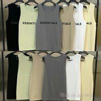 2021 Ins Mens T-Shirt Tişört Tanrı Korkusu Sis Essentials Yelek Spor T Shirt Basketbol Nefes Örgü Yüksek Sokak Kolsuz Yaz