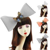 Hair Accessories 1pc Bow Decor Fashion Hat Clip Design Net Party Headwear Dress Up For Women Ladies Girls