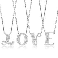Pendant Necklaces 26 Letter Initial Name Pendants Chain Choker Wedding Birthday Party Collar Mother's Day Girlfriend Jewelry Gift