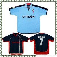 2002-04 Retro Celta Vigo Casa Jersey Camisa de futebol 02 04 Temporada mais velha Camiseta Milosevic Mostovoi Berizzo Vagner Juanfran