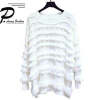 Women's Sweaters Casual Fringed Sweater Female Loose Spring And Autumn 2021 Large Size Long Sleeve Solid Color Pullover