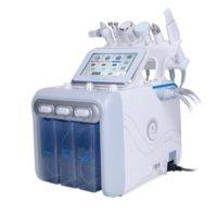 6 In 1 Hydrafacial Dermabrasion Machine Oxygen Jet Hydra Facial Machine Peeling Ultrasonic Scrubber RF Face Lift Microdermabrasion