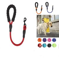 Dog Collars & Leashes 60CM Reflective Short Explosion-proof Blind Leash Running Walk Train For Large Small Cat Pets Dogs Rope Nylon