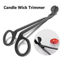 Black Acciaio inox Acciaio inox Candle Wick Trimmer Lampada Olio Trim Scissor Tijera TESOURA Cutter Snuffer Tool Hook Clipper