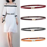 Neue Frauen Kleid Gürtel Top Qualität Goldene Schnalle dünne Mode Rindsgürtel Gürtel Echtes Leder Taille Gurt Für Frau bis zu 38 Zoll