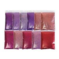 Tırnak Glitter 11 Renkler Parlak Sanat Tozu Sparkly Gül Altın Pembe Mor Pigment Tasarım için Fransız Manikür Süslemeleri