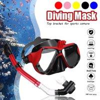 Popüler SGODDE Profesyonel Sualtı Kamera Dalış Maskesi Dalış Şnorkel Yüzme Gözlük Spor Kamera Kayışı