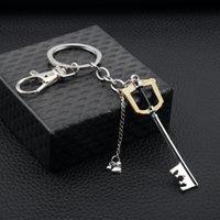 Anime Trinket Keychain 왕국 하트 망치 KeyBlade Keyrings 금속 펜던트 Keyholder 보석 Llavero