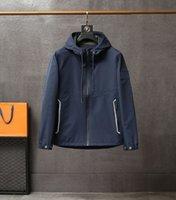 2021 Top Design Hombres Chaqueta Moda Cortavientos Simple Versátil Cómodo Abrigo Casual Cardigan M-3XL