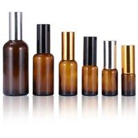 Großhandel leere Probensprühflaschen 5ml 10ml 15ml 20ml 30ml 50ml 100ml Bernsteinglas Parfümflasche