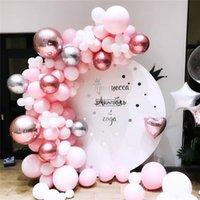 20set azul rosa plata metal globo guirnalda arco globo boda evento fiesta balón baby shower cumpleaños fiesta decoración niños adulto