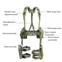 في الهواء الطلق 1000D حزام التكتيكي للرجال القتال حزام h- شكل مبطن لينة قابل للتعديل حبال الكتف