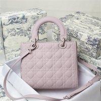 Классические должны иметь элегантные сумки леди модные плечо алмазные решетки сумки натуральные кожаные женщины многоцветные сумки с просьбой
