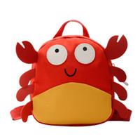 Креативные дети рюкзак мультфильм милый маленький краб школьная сумка мальчик девушки открытый туризм рюкзак детские книжные мешок