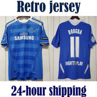 Chelsea TORRES MATA LAMPARD 2011 2012 RETRO camisetas de fútbol de la vendimia David Luiz camisetas de TERRY clásica camiseta azul casa DROGBA LUKALU Maillot