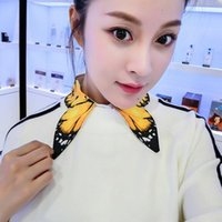 Women's Blouses & Shirts Shirt Collar Wild Autumn Decorative False Hollow Embroidered Winter Hand-painted Printing Yellow Butterfly
