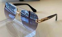 Homens piloto óculos de sol 139 amarelo ouro preto cinza lentes de gradiente moda óculos de sol UV400 Proteção com caixa