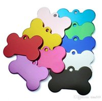 Factory Double 100 pcs lot Mixed Sides Colors Tag Bone Shaped Personalized Dog Customized Cat Pet Tags Name Phone No.