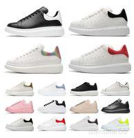 Yüksek Kaliteli Tasarımcı Beyaz Siyah Ayakkabı Klasik Süet Kadife Deri Erkek Bayan Flats Platformu Boy Espadrille Düz Sneakers 36-45