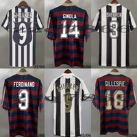 96 97 98 99 Shearer Retro Soccer Jersey Bellamy Ginola Luque Pinas 1994 1995 05 06 Gillespie Ferdinand Barnes Owen Cole Camisas de futebol clássico