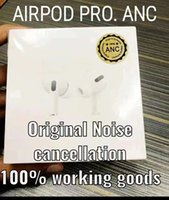 ANC AIRPODS الموالية الوظيفة الحقيقية للحد من الضوضاء اللاسلكية سماعات بولوتوطة بالجملة إعادة تسمية GPS 1: 1 سماعات عالية الجودة مع شحن لاسلكي